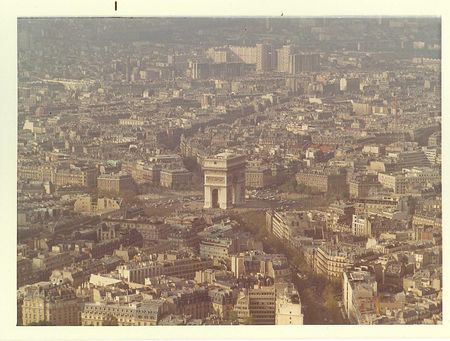Paris arc de triomphe 1972